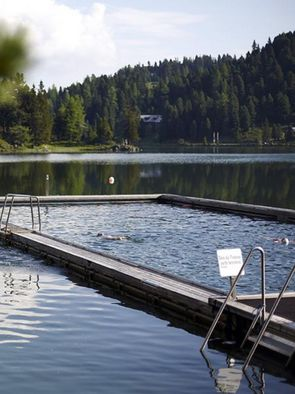 In the Hochschober you can swim outdoors all year round