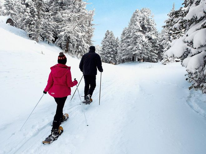 Guided snowshoe hikes are regularly scheduled at the Hotel Hochschober