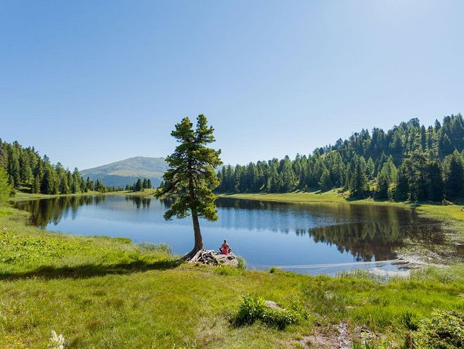 Hiking to mountain lakes and pine woods © Turracher Höhe