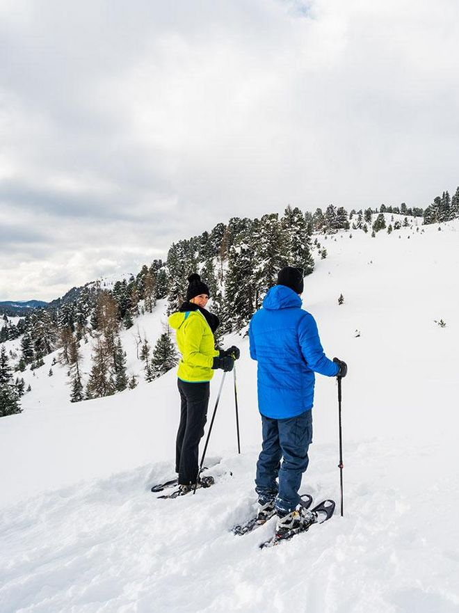 Simple snowshoe trails are for example those to the Grünsee © Turracher Höhe Attisani